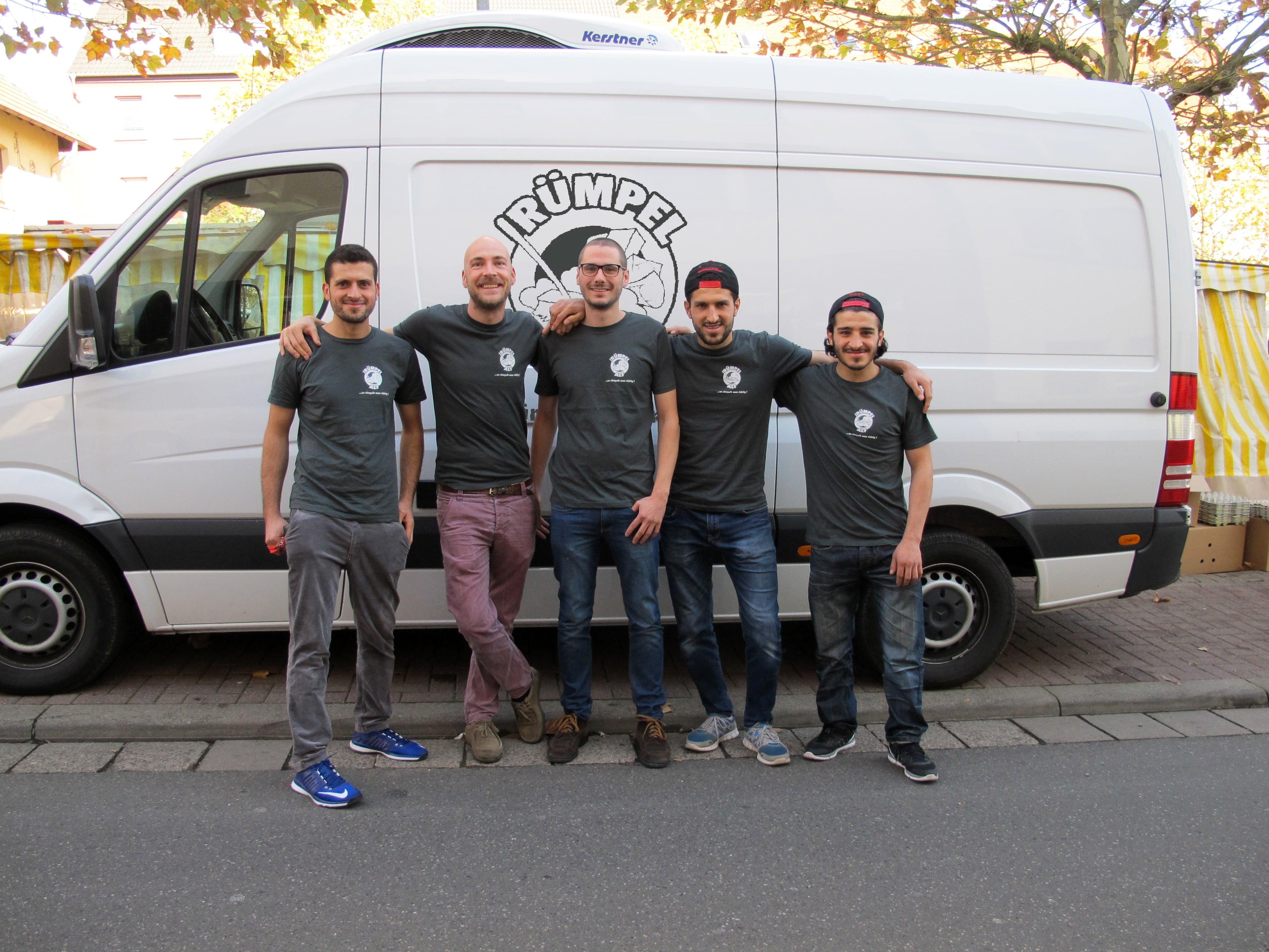 Alles muss raus! - Aref, Ahmad, Lorenz, Mohammad und Janis - Entrümpler im Saarland